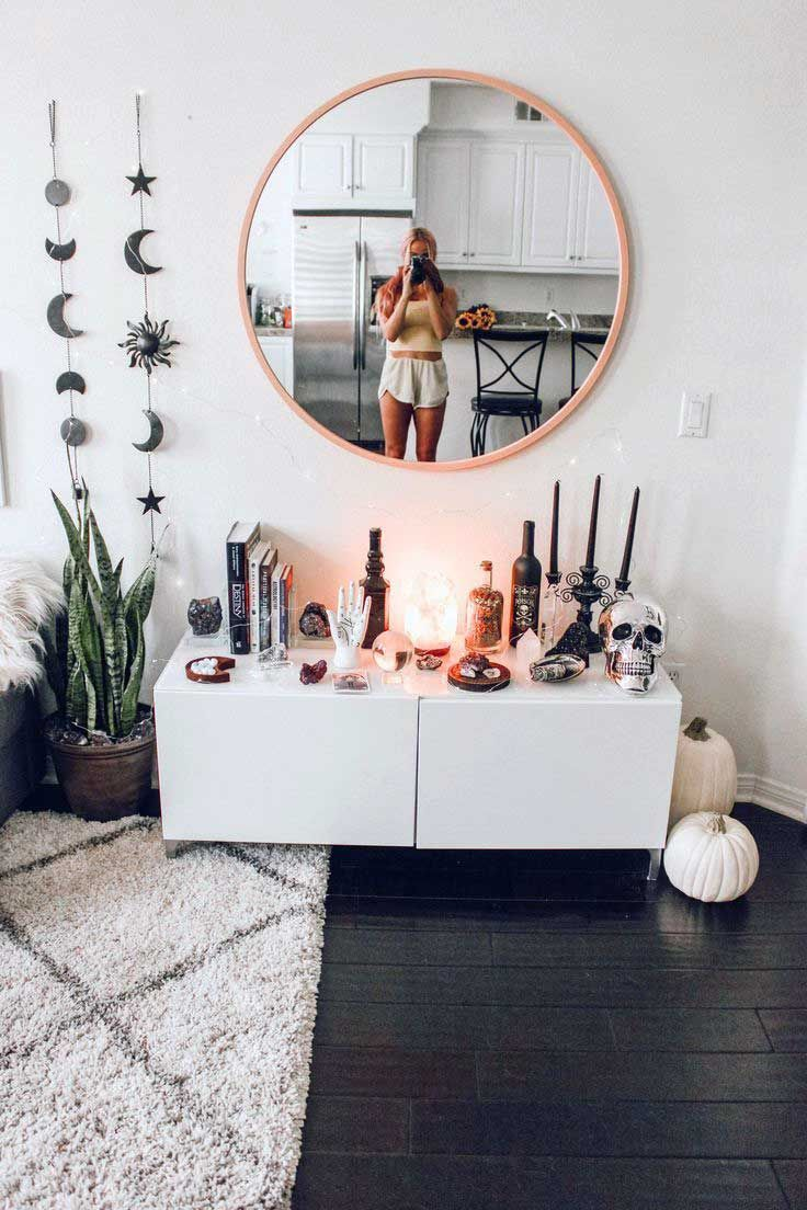 35 Stunning Apartment Bedroom Mirror Ideas You Won T Refuse Dorm Room Decor Apartment Decor Aesthetic Rooms