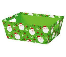 """Large Market Tray Jolly Santa 12"""" x 9.5"""" x 3.5""""-59343"""