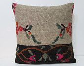 24x24 southwestern kilim pillow cream throw pillow floral decorative pillow rustic bedding pillow stripe pillow case body pillow cover 24433