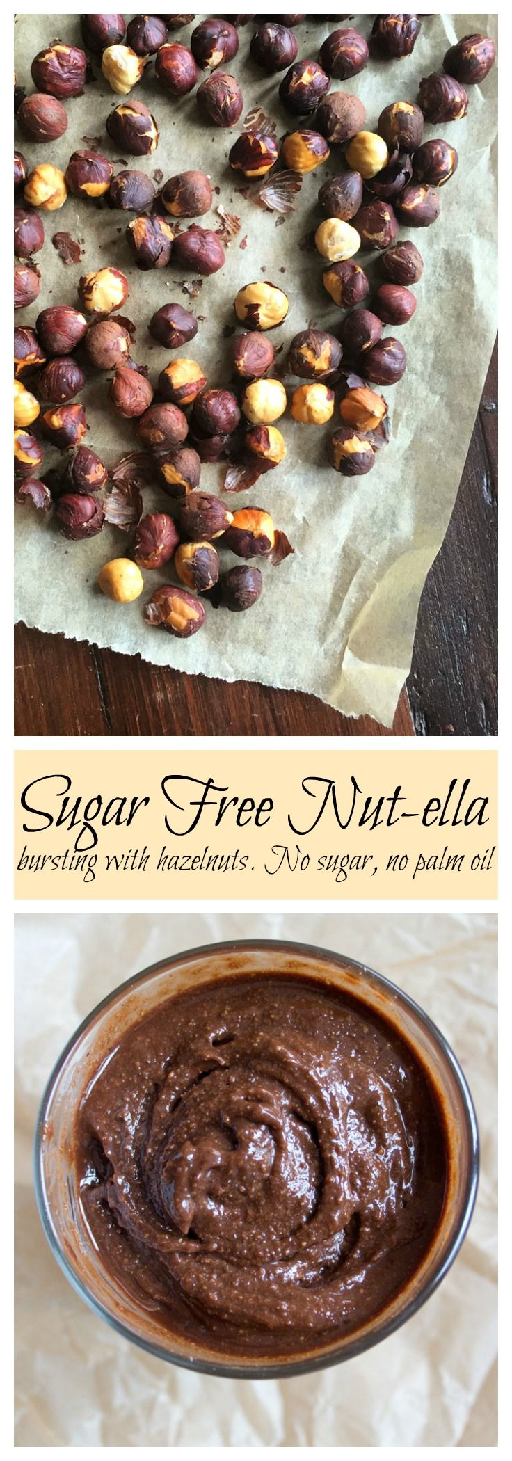 Nutty. Chocolatey. Irresistible. It is super easy to make your own sugar free nut-ella! And it tastes miles better. You'll never look back. Promise.