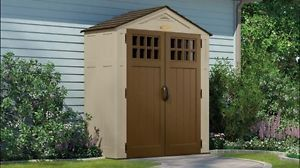 Buy Suncast Sierra 6 x 3 Feet Outdoor Storage Shed 92 Cubic Feet Sand | BMS6300