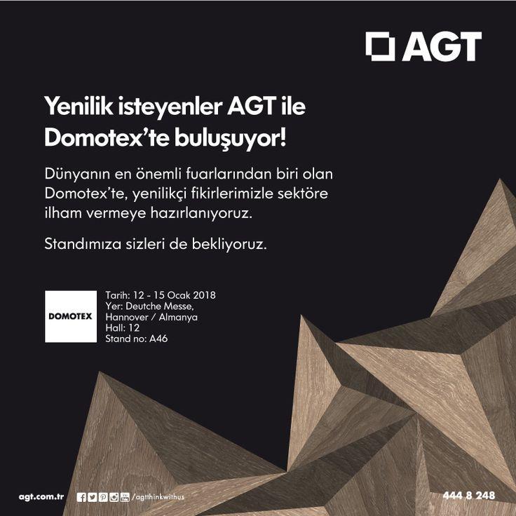 Yenilik İsteyenler AGT ile Domotex'te buluşuyor!  Dünyanın en önemli fuarlarından biri olan Domotex'te, yenilikçi fikirlerimizle sektöre ilham vermeye hazırlanıyoruz! Standımıza sizleri de bekliyoruz...  #yenilikisteyene #agt