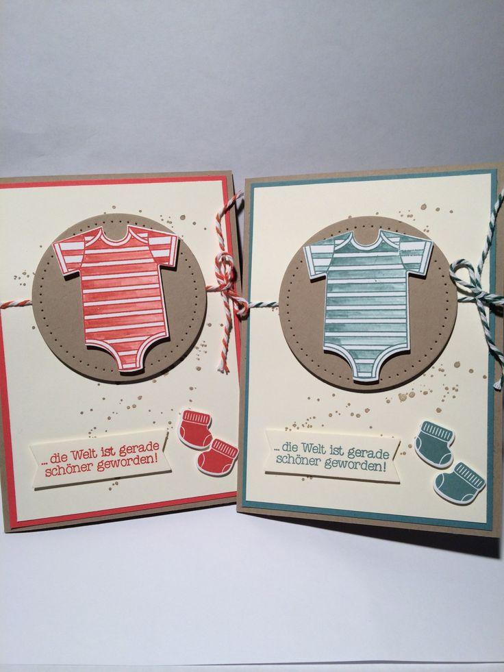 Glückwunsch zur Geburt Erstellt von TanjasPapierdesign mit Stampin´up Produkten. Farben: Savanne,Vanille,Melonensorbet,Lagunenblau