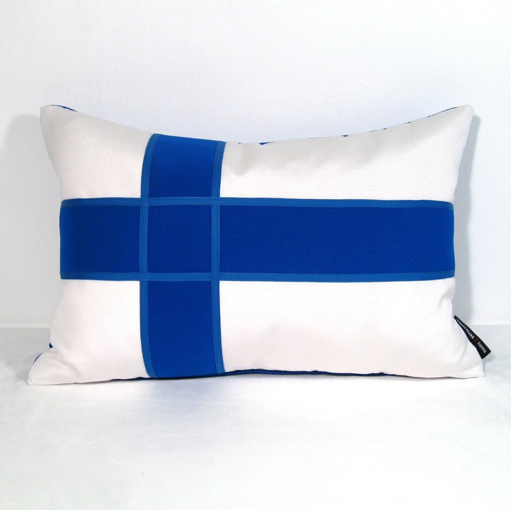 Finland Flag Pillow Cover  Outdoor Cushion  by Mazizmuse on Etsy, $65.00