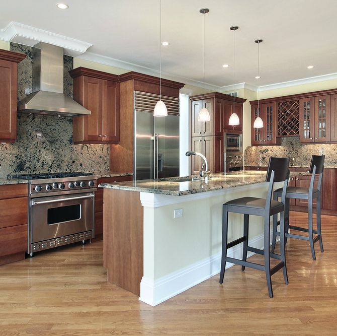 Kitchen Paint Ideas With Cherry Cabinets: 90 Best Cherry Color Kitchens Images On Pinterest