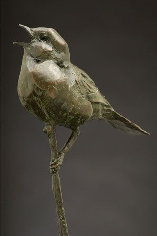 #Dylan_Lewis, Bird Sculpture, Love the delicate details.