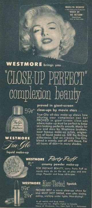 Marilyn Monroe makeup ad