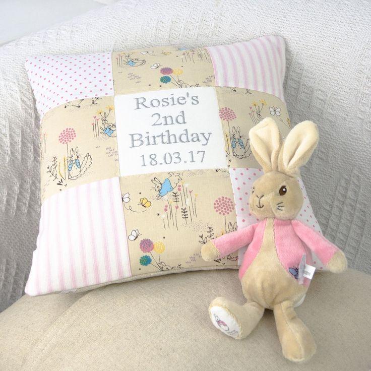 Peter Rabbit© Birthday Cushion Pink