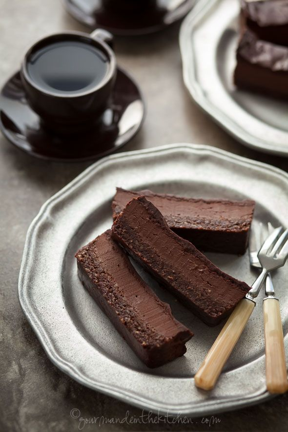 Super-fudgy brownies topped with a velvety chocolate peppermint mousse and finished with a silky chocolate glaze. @gourmandeinthek