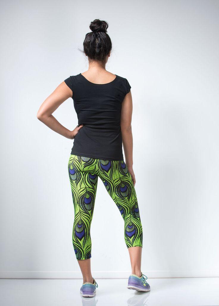 Green Peacock Leggings - lineagewear - 5