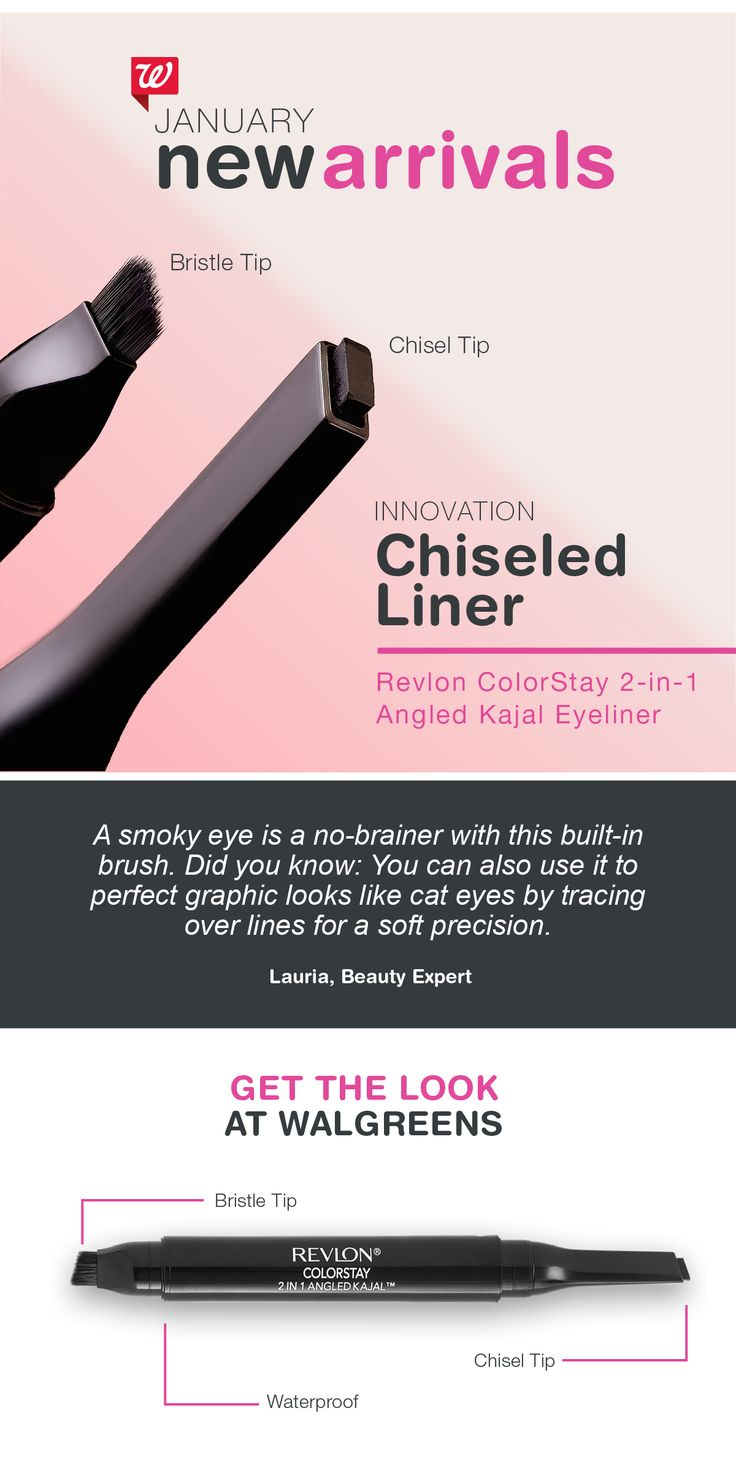 Take the guesswork out of your cat or smoky eye with this tool-in-one liner. It's waterproof, one-stroke application makes precision easy and smudging painless. Revlon ColorStay 2-in-1 Angled Kajal Eyeliner comes in 4 shades, including fig and evergreen.