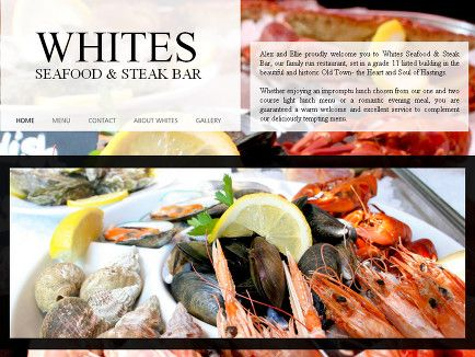 Alex and Ellie proudly welcome you to Whites Seafood & Steak Bar, our family run restaurant!