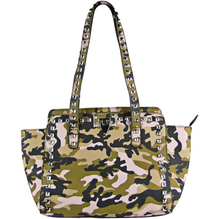 Laser cut designs in gold and silver add a unique edge to your appearance. Shoulder #bags at Lady Vogue Fashion perfectly fit that description-- http://www.ladyvoguefashion.com/pink-camo-studded-shoulder-handbag-hb1-ca1604pnk/