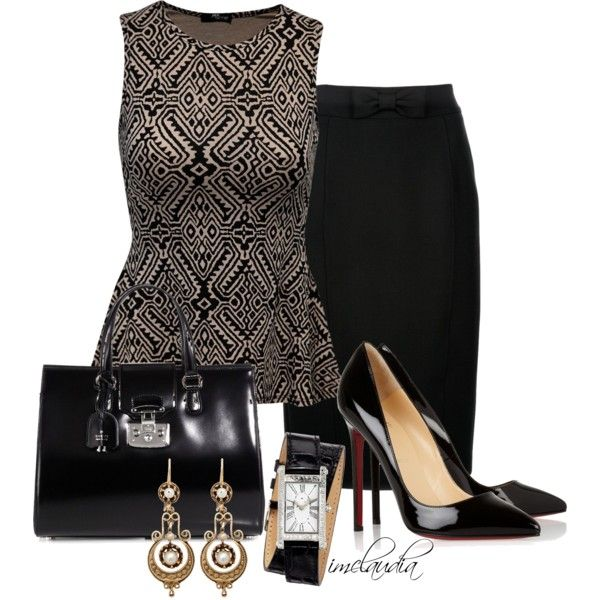 Black Wrap Watch, created by imclaudia-1 on Polyvore