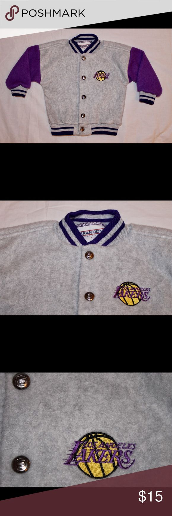 Kids LA Lakers Jacket sz 2t Purple & Grey Lakers Jacket. Unisex Jackets & Coats
