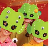 Alien Masks and other ideas for space and rocket party
