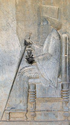 Darius Relief of Darius I in Persepolis