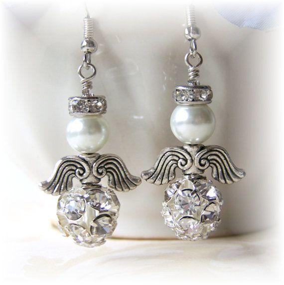 Cute angel earrings