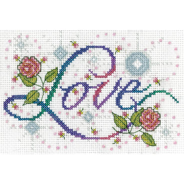 Love Counted Cross Stitch Kit5inX7in 14 Count