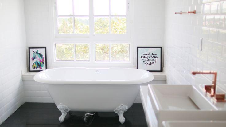 Banheiro vintage da Casa Depois Dos Quinze by Bruna Vieira