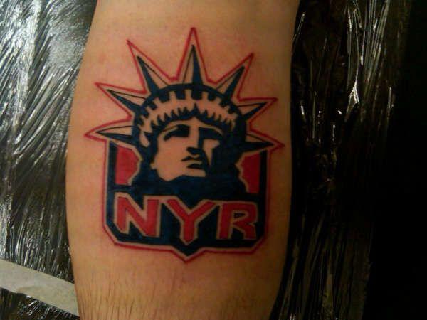 new york rangers tattoo tattoo pinterest tattoo. Black Bedroom Furniture Sets. Home Design Ideas
