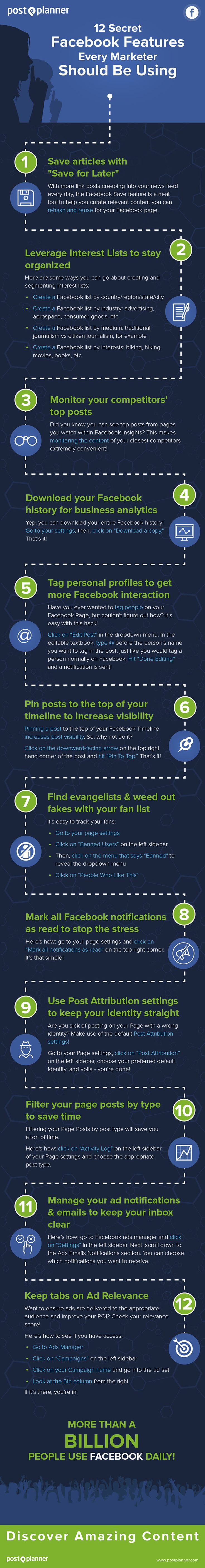 Post Planner's 12 Secret Facebook Features Every Marketer Should Be Using -