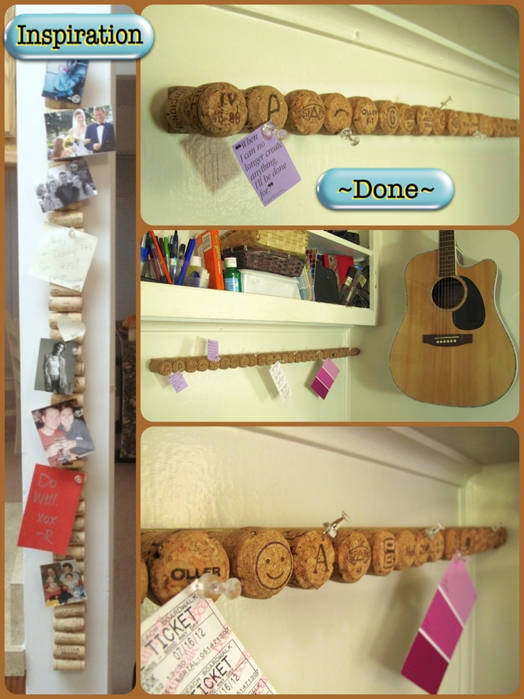 My horizontal cork board using champagne corks