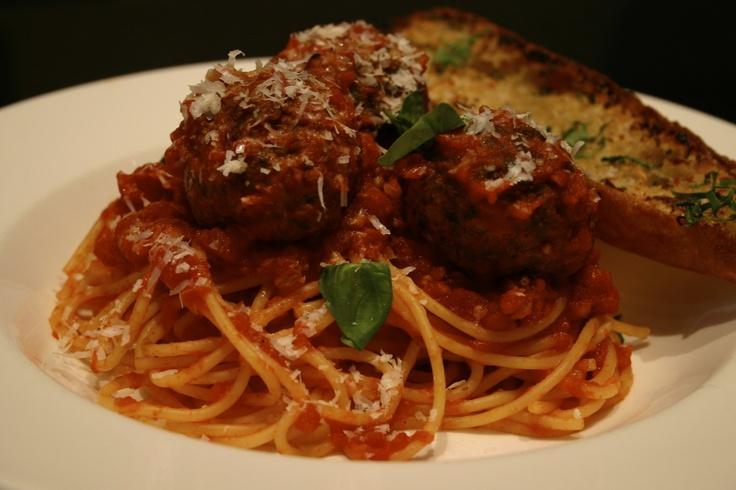 Spaghetti and meatballs, at Teatro Boston