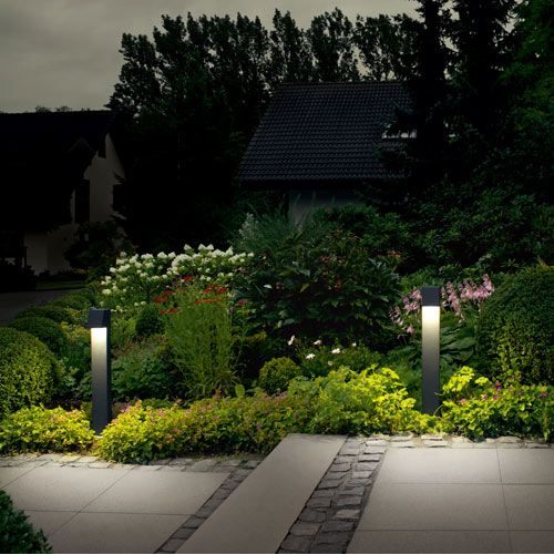 107 best garden lighting images on pinterest outdoor lighting garden and pathway bollard get this looks using lumenesk garden bollard lighting aloadofball Images