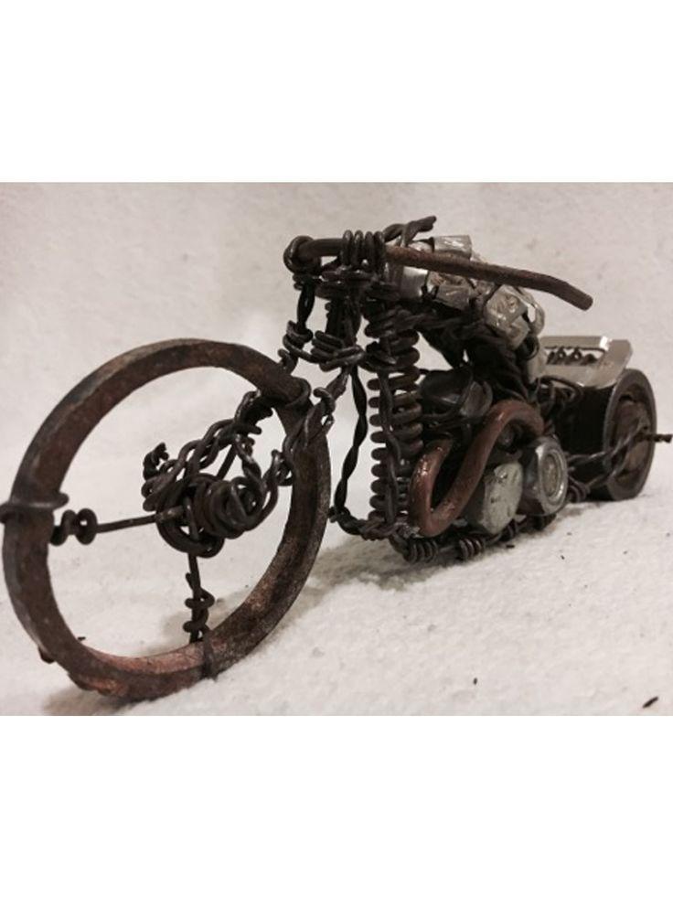 Handmade Custom Wire Motorcycle Chopper Style