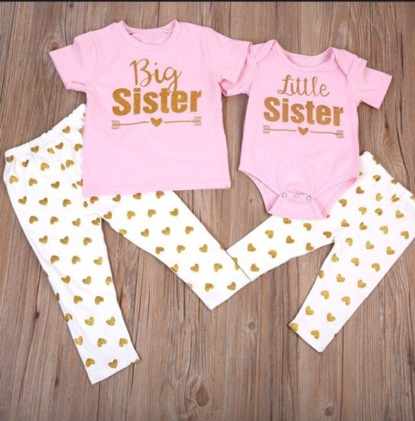 Big Sister Little Sister Heart Arrow Shirt And Onesie Big Sister T Shirt Sister Outfits Big Sister Outfits