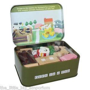 Farm-in-a-Tin-Wooden-Farmyard-Animals-Childrens-Wood-Play-Farm-Animals-Toy-Set