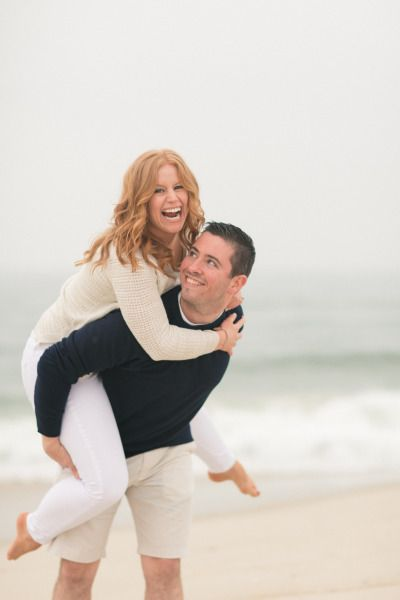 Romantic Beach Engagement Session: http://www.stylemepretty.com/new-jersey-weddings/2014/09/09/romantic-beach-engagement-session/ | Photography: Amy Rizzuto - http://www.amyrizzutophotography.com/