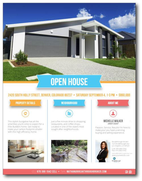 Best 25+ Open house brochure ideas on Pinterest Back to school - home sale flyer template