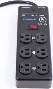 Furman SS-6B 6 Outlet Power Strip | Sweetwater.com