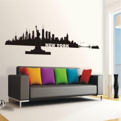 11 best wandtattoo skyline images on pinterest skyline bedroom and child room. Black Bedroom Furniture Sets. Home Design Ideas
