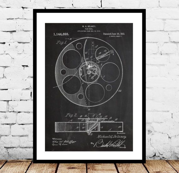 Film Reel Print, Film Reel Poster, Film Reel Patent, Film Reel Wall Art, Film Reel Wall Decor, Film Reel Art, Film Reel Blueprint, Movie Art