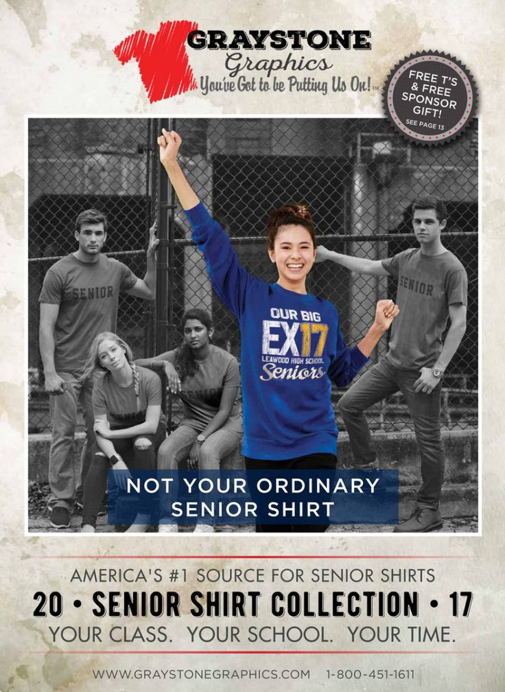 Click here to see our 2017 Senior Class Shirt Collection.  America's #1 Source for Senior Shirts!