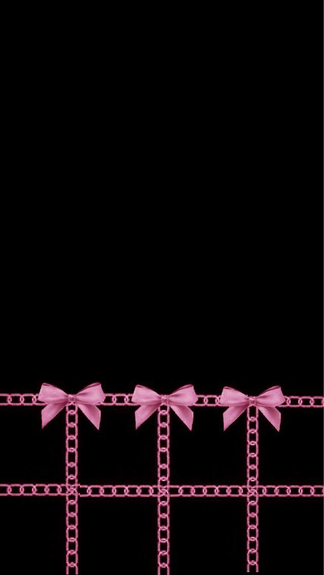 Simple cute black bow wallpaper | Wallpapers | Pinterest ...