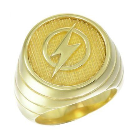The Flash Ring Barry Allen Wally West Yellow Gold Plt Silver Jewelry