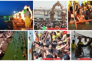 Of the four Kumbhs, the Kumbh of Ujjain is called as Simhasth Kumbh Mahaparv. During Simhasth Kumbh Mahaparv taking Holy Dip in Kshipra at Ujjain has a very special meaning. Many people from gujarat take part to have holy dip at Ujjain. Let's enjoy Mahaparv. Shahi Snan at ujjain during Simhasth Kumbh Mahaparv ◄ Back Next ► Picture 1 of...  Read More