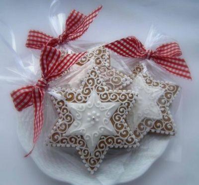 karácsonyi mézeskalács csillag. sorszám: 1032