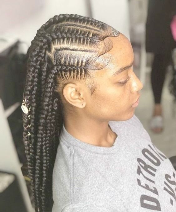 Braiding hairstyles feed in braids for black women