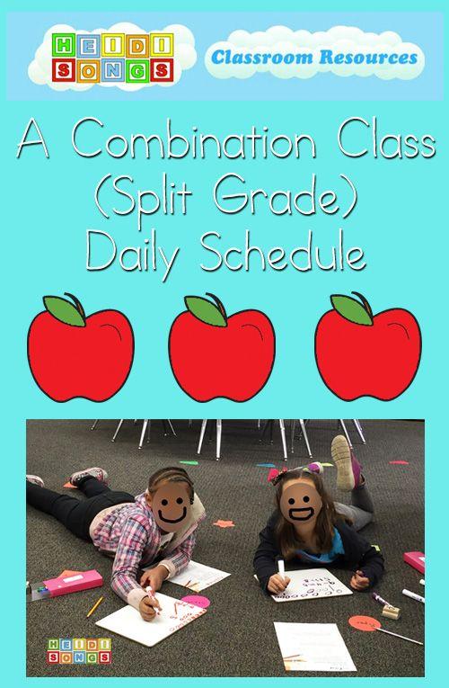 A Combination Class (Split Grade) Daily Schedule