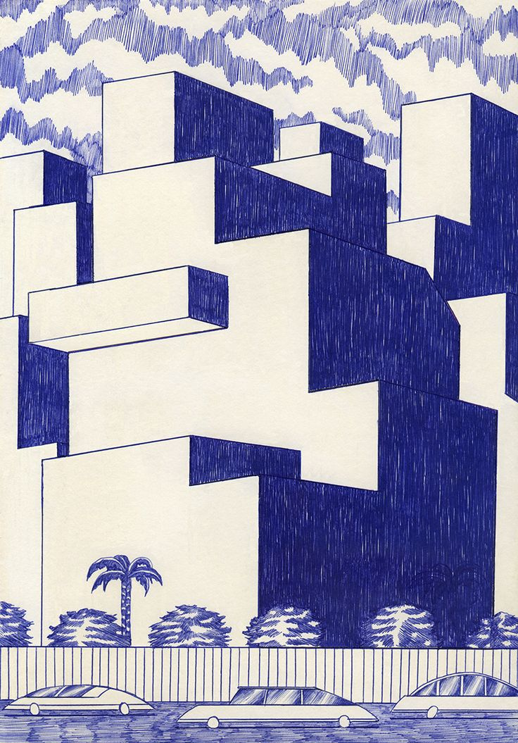 All ink? Behind blue lines – Kevin Lucbert [Gallery] | WAATERKANT