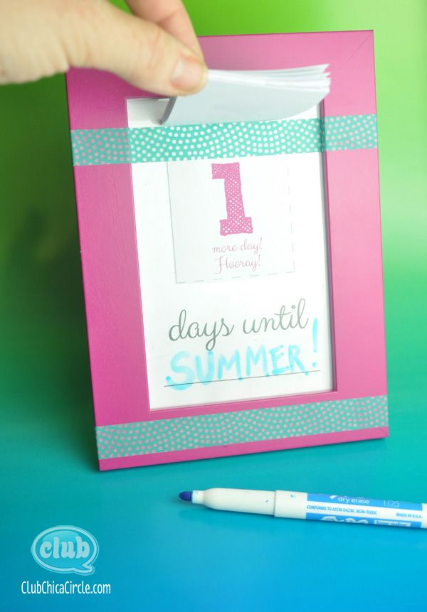 Make Your Own Countdown Calendar and Notepad | Tween Craft Ideas for Mom and Daughter