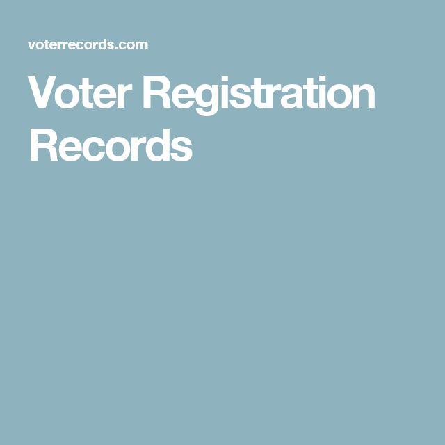 Voter Registration Records