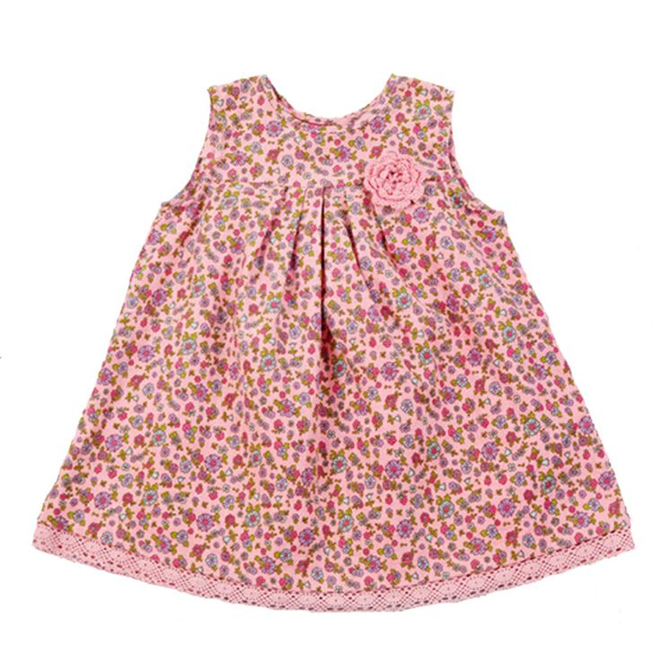 Summer Baby Girl Clothes Dresses 2017 Flowers Pattern Girl Baby Clothes Dress Summer Brand Sleeveless Kids Party Dress For Girl