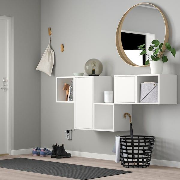 Eket Wall Mounted Cabinet Combination White Width 68 7 8 Height 27 1 2 Order Today Ikea Eket Ikea Eket Wall Mounted Cabinet
