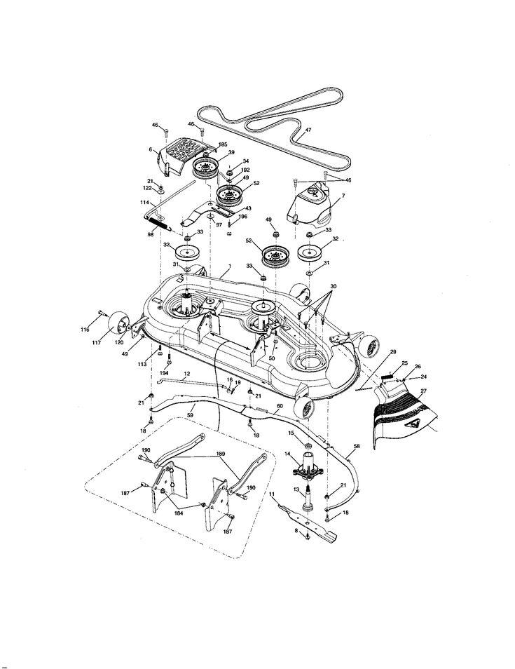 Craftsman model 917276911 lawn, tractor genuine parts